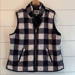 Black & White Check vest